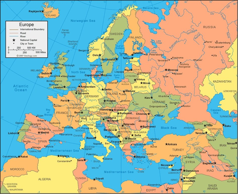 The 100 Question European Geography Quiz